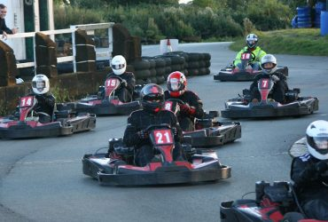 Leicester go karting at Stretton Circuit